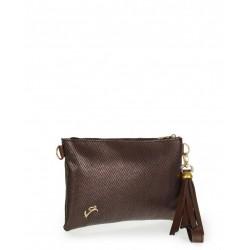 Brown metallic envelope bag veta (999-10)