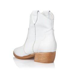 SANTE LEATHER BOOTIES WHITE (GRUMMAN-20-101-09)