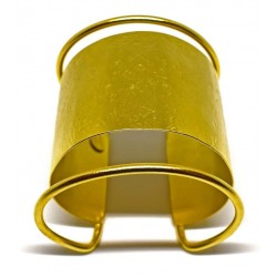 Gold plated brass handmade bracelet diotima (E654-2)