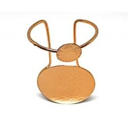 Gold plated brass handmade bracelet diotima (E658-1)