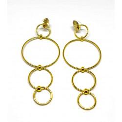 Gold plated brass handmade earings diotima (E557-2)