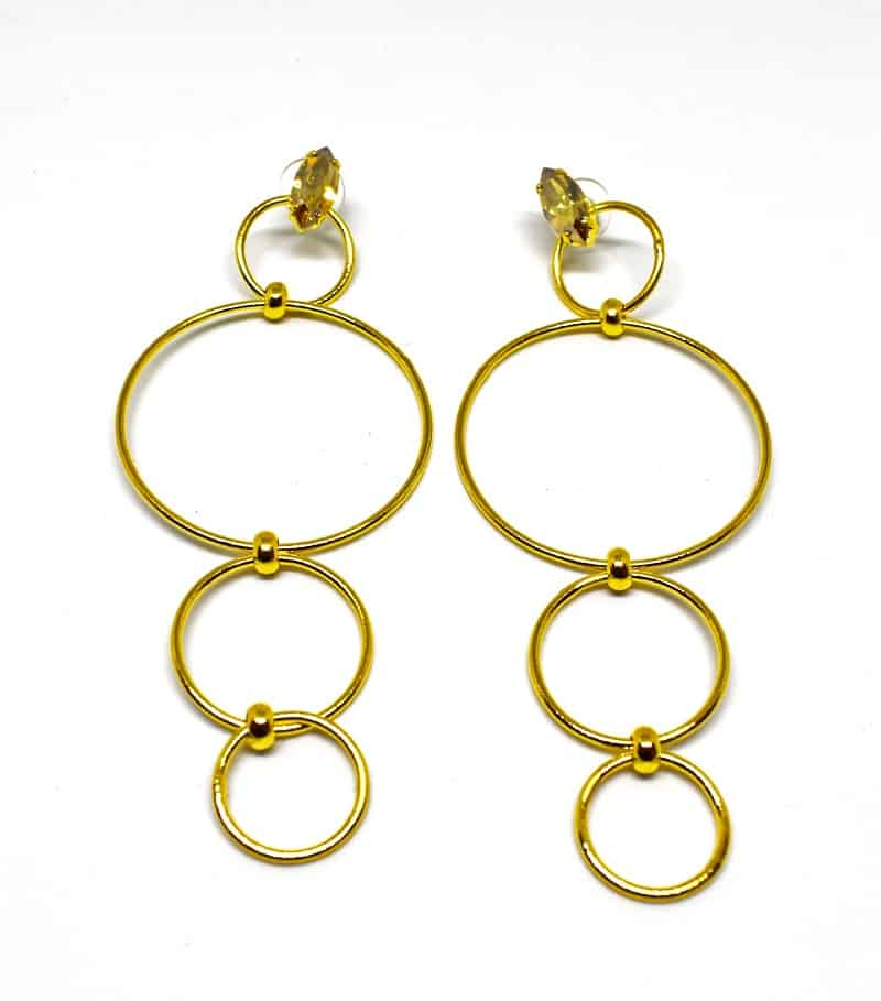 Gold plated brass handmade earings diotima (E557-2)