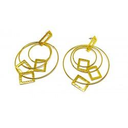 Gold plated brass handmade earings diotima (E625-2)
