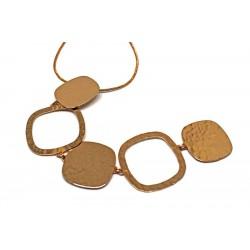 Gold plated brass handmade necklace diotima (E699-1)