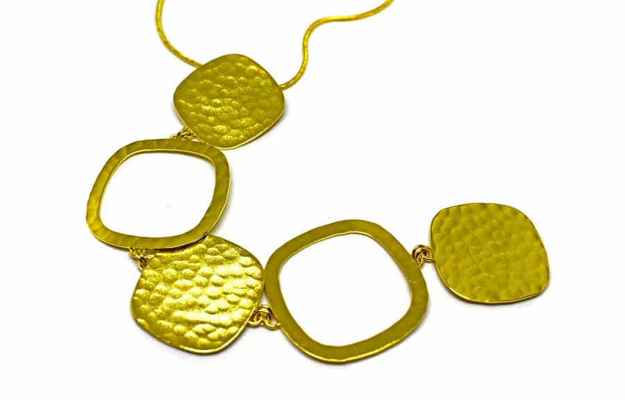 Gold plated brass handmade necklace diotima (E699-2)