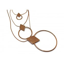 Gold plated brass handmade necklace diotima (E703-1)