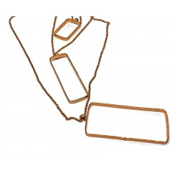 Gold plated brass handmade necklace diotima (E707-1)