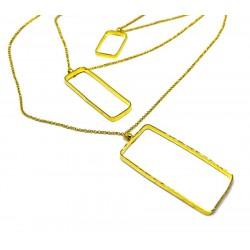 Gold plated brass handmade necklace diotima (E707-2)