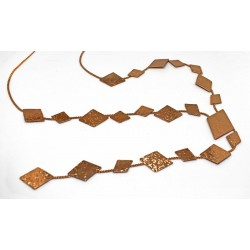 Gold plated brass handmade necklace diotima (E720-1)
