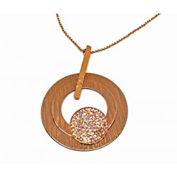 Gold plated brass handmade necklace diotima (E730-1)