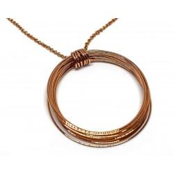 Gold plated brass handmade necklace diotima (E849-1)