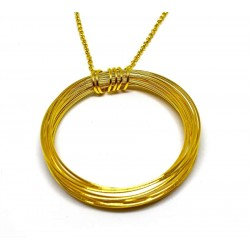 Gold plated brass handmade necklace diotima (E849-2)