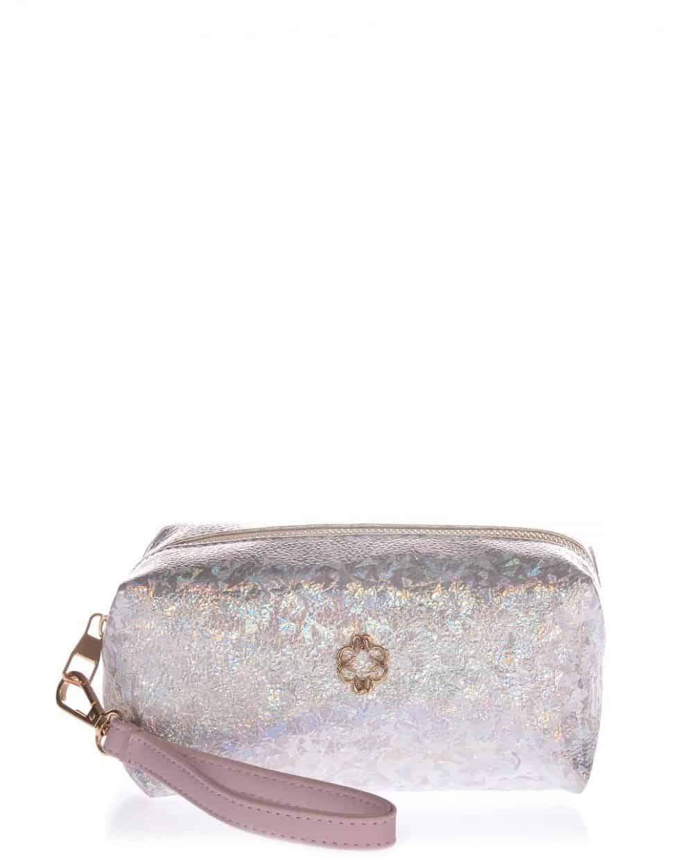 Silver necessaire veta with purple detail (5-11)