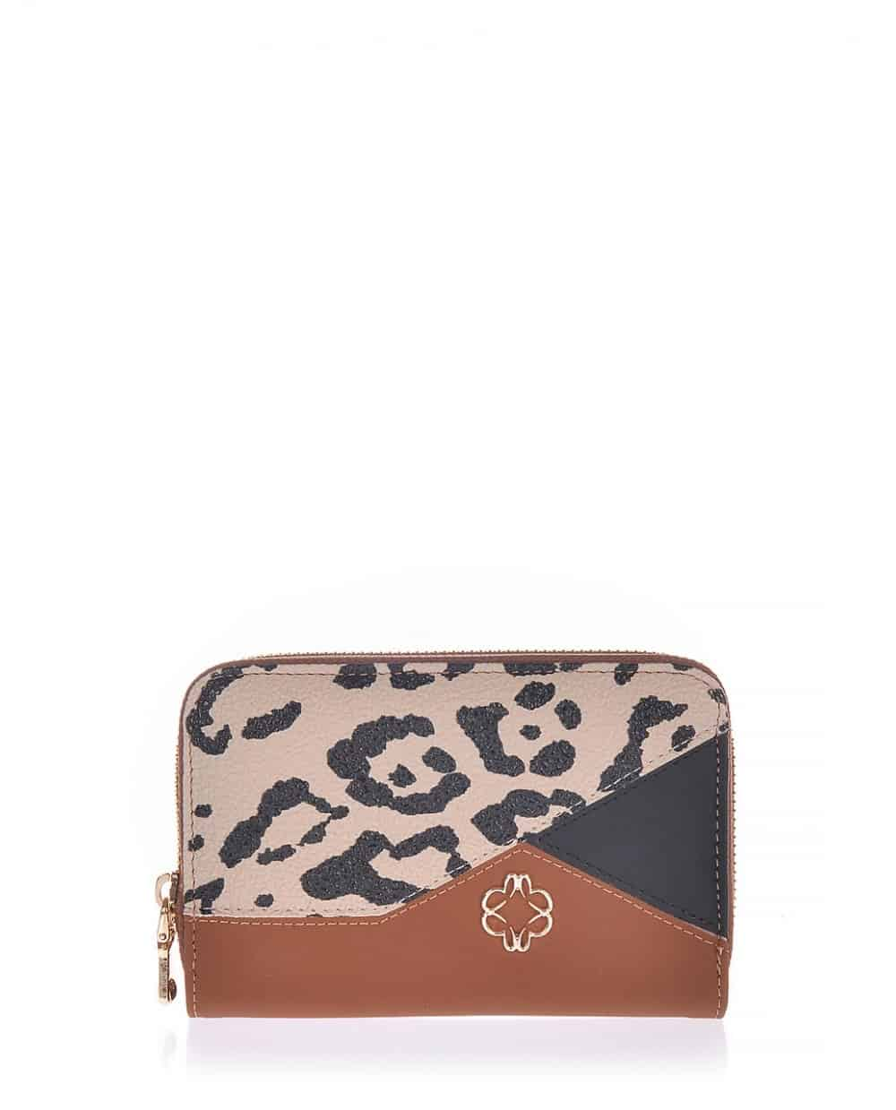 Tabba wallet veta with leopard  and black detail (1037-43)